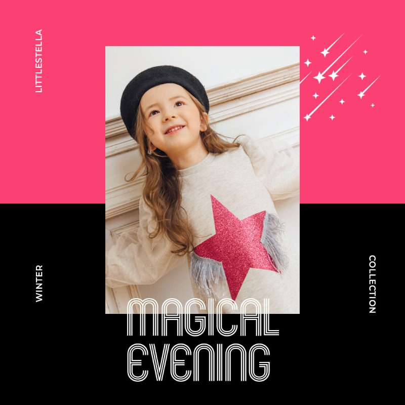 LITTLE STELLA 2020 WINTER COLLECTION 'Magical evening'