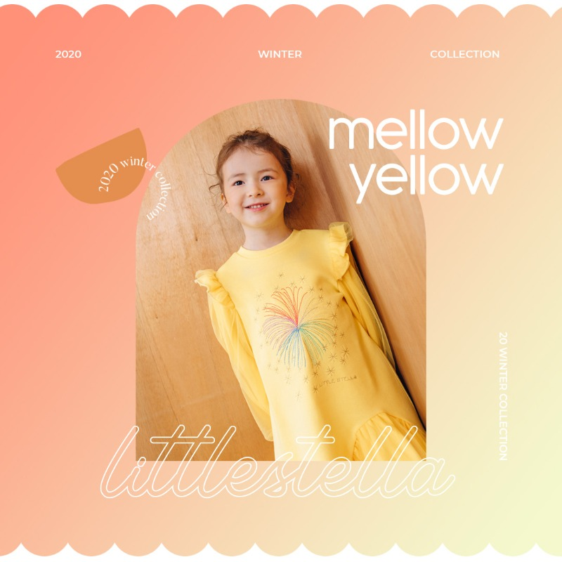 LITTLE STELLA 2020 WINTER COLLECTION 'Mellow yellow'