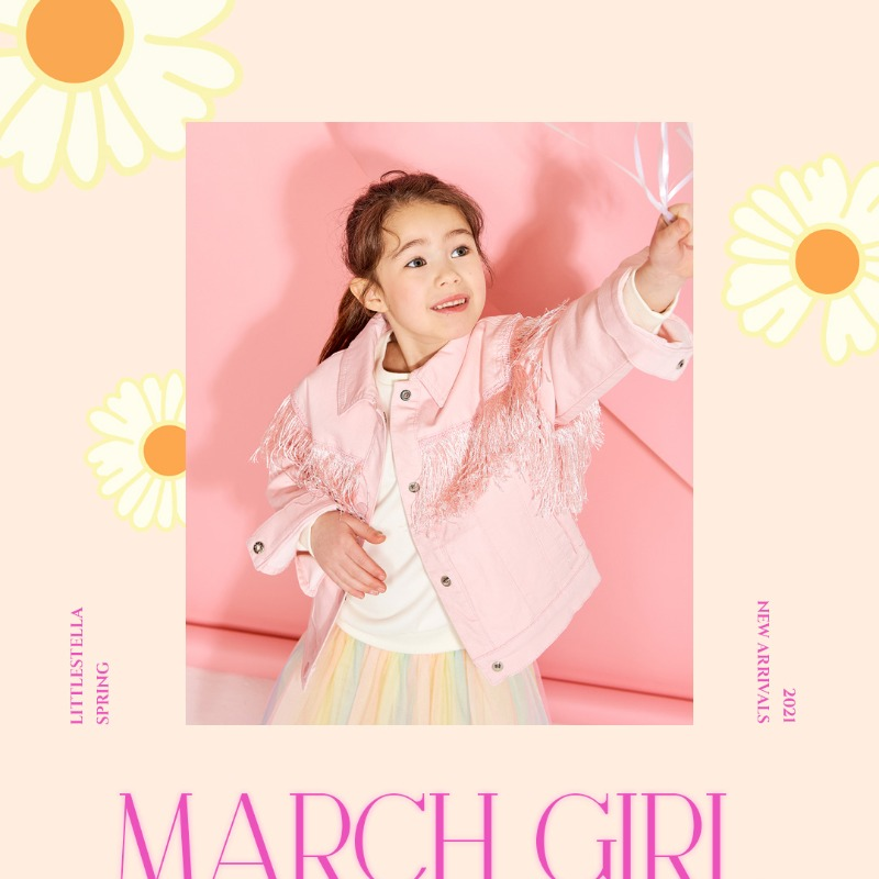 LITTLE STELLA 2021 SPRING COLLECTION 'March girl'